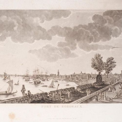 MIXED, AFTER JOSEPH VERNET View of the port and city of Bordeaux taken from Chât…