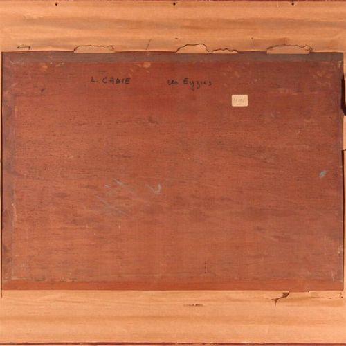 Louis Alexandre CABIÉ (1854 1939) Les Eyzies. Oil on panel, signed lower left, d…
