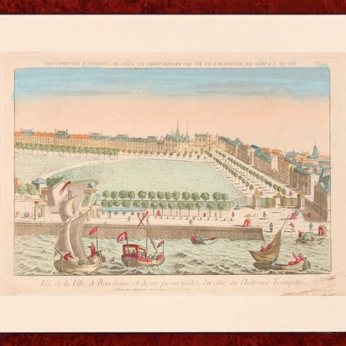 BORDEAUX View from the gate and place Bourgogne (sic) on the port of the city of…