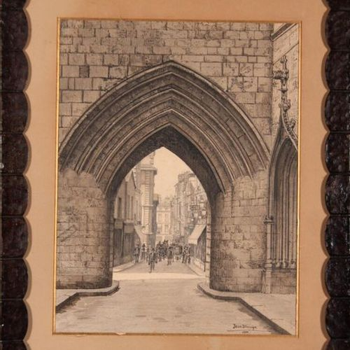 Jean DROUYN (1876 1942) La rue Saint James vue à travers la porte de la Grosse C…