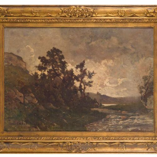 Louis Alexandre CABIÉ (1854 1939) Regional landscape. Oil on canvas, signed lowe…