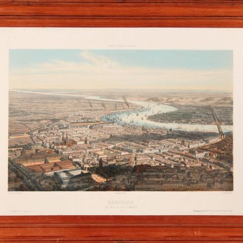 Alfred GUESDON (18081876) Bordeaux View taken from the cours d'Aquitaine. Lithog…