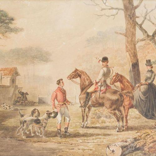 Stanislas GORIN (1824 1874) The Baron and Baroness de Montesquieu in the Bois de…