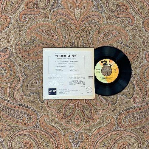 """BOF 1 disque Ep Bande originale de """"Pierrot le fou"""", de Jean Luc Godard, avec Je…"""