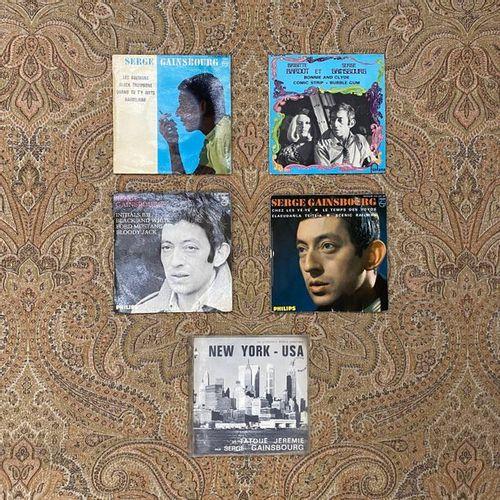 FRANCAIS 5 disques Ep/45 T Jukebox Serge Gainsbourg  VG à EX; VG à EX