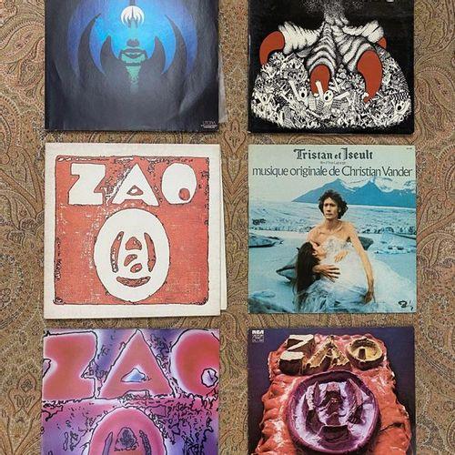 FRANCAIS 6 disques 33 T Magma/Zao, dont le premier album original, label bleu  V…