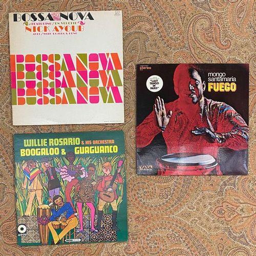MUSIQUE DU MONDE 3 disques 33T Latin Jazz  VG+ à EX (écriture au dos); VG+ à EX