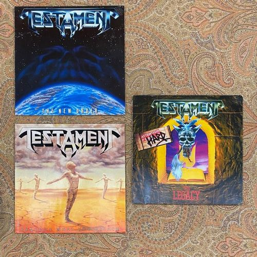 POP ROCK 3 x Lps Testament  VG+ to EX; VG+ to EX  Hard Rock