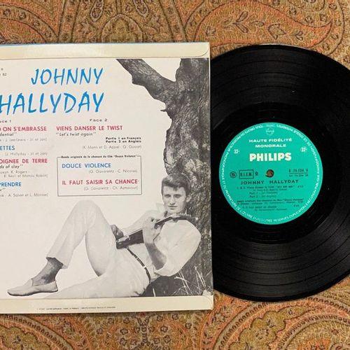 "Johnny HALLYDAY 1 disque 25 cm Johnny Hallyday ""Hallyday""  B76534, Philips, mono…"