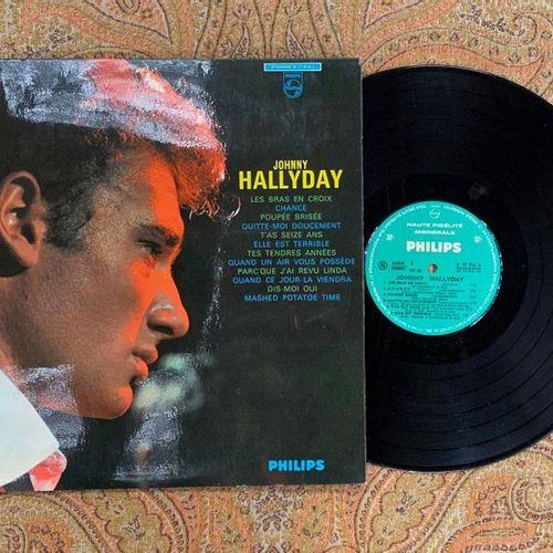 "Johnny HALLYDAY 1 disque 33 T Johnny Hallyday ""n°6""  B77916L, Philips, label ver…"