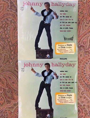 """Johnny HALLYDAY 2 disques 25 cm Johnny Hallyday """"Johnny Hallyday, n° 3""""  Rééditi…"""