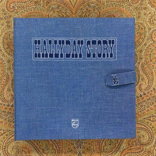 """Johnny HALLYDAY 1 coffret 33 T Johnny Hallyday """"Hallyday story"""" Pochette jeans  …"""