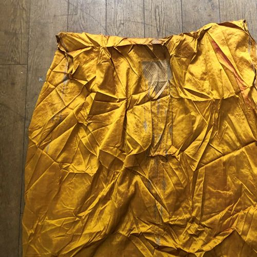 Abba or mantle of immam, Syria, 19th century, yellow taffeta, silver brocaded de…