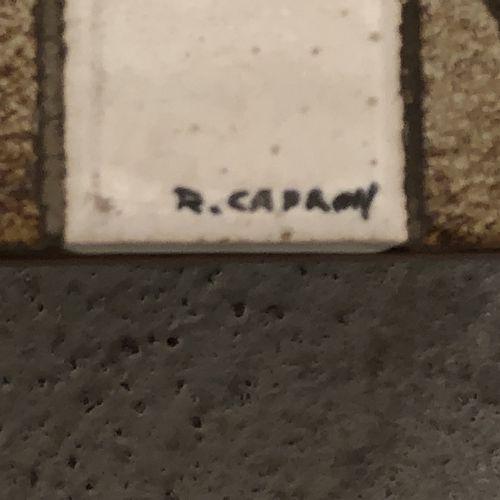 """Roger CAPRON (1922 2006) Plateau de table basse rectangulaire modèle """"Pagode"""", e…"""