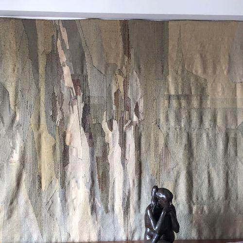 "René FUMERON (1921 2004) Tapisserie ""Composition en camaieu beige"", signée en ba…"