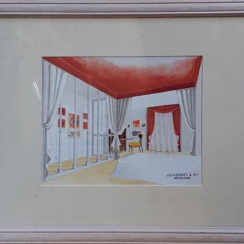 """JOUSSEMET ET Cie, décorateur  """"Etude de bureau face à face année 50's"""", """"Marseil…"""
