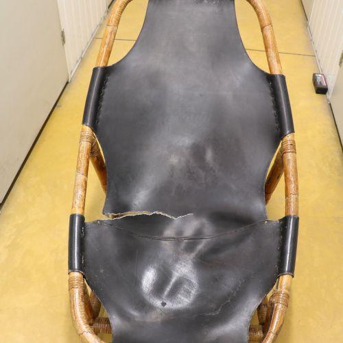 Attribué à Arne TIDEMAND RUDD (1915 1985) Paire de fauteuils lounge, bambou vern…