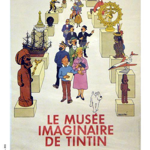 """Dérivés HERGÉ/TINTIN  Affiche originale """"Le Musée imaginaire de Tintin""""  89 x 60…"""