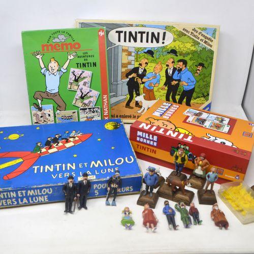 Dérivés HERGÉ/TINTIN/JEUX ET FIGURINES  Lot de jeux Tintin comprenant:   Mémo le…