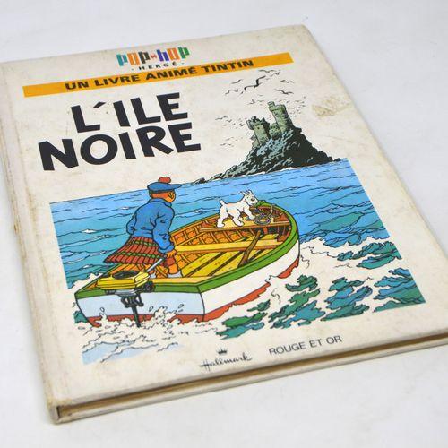 L'île noire HERGÉ/POP UP  Livre Pop up.  L'île noire.  Collection Rouge et Or, e…