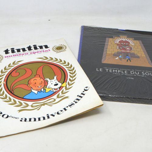 TINTIN HERGÉ/TINTIN  Lot comprenant :   Le Temple du Soleil, version intégrale r…