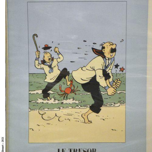 """Dérivés HERGÉ/TINTIN  Affiches """"Le Trésor de Rackham le Rouge"""" et """"L'oreille cas…"""