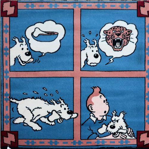 Dérivés Tapis en laine édité par Axis (1999)  Coke en stock : Tintin Milou et l'…