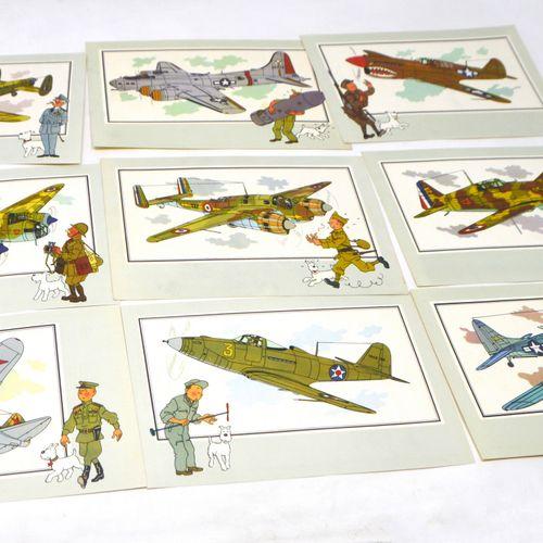 "Dérivés HERGÉ/TINTIN/CHROMOS  Chromos Tintin de la collection ""Voir et Savoir""  …"