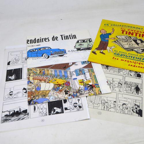 Dérivés HERGÉ/TINTIN/PRODUITS DÉRIVÉS  Lot de produits dérivés papiers Tintin (A…