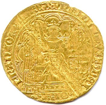 PHILIPPE VI DE VALOIS 1328 1350 Gold Ecu at the Chair. (4.55 g) Trace of folding…