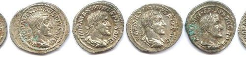 Lot of 8 silver denarii from Maximin I (235 238). Very beautiful and superb.