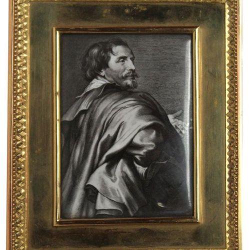 LAFON de CARMARSAC Pierre Michel (1821 1905) Van Dyck, 1869. Photographic enamel…