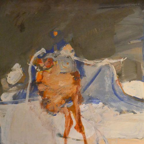 Paul REBEYROLLE (1926 2005) Femme allongée, 1961. Technique mixte sur papier sig…