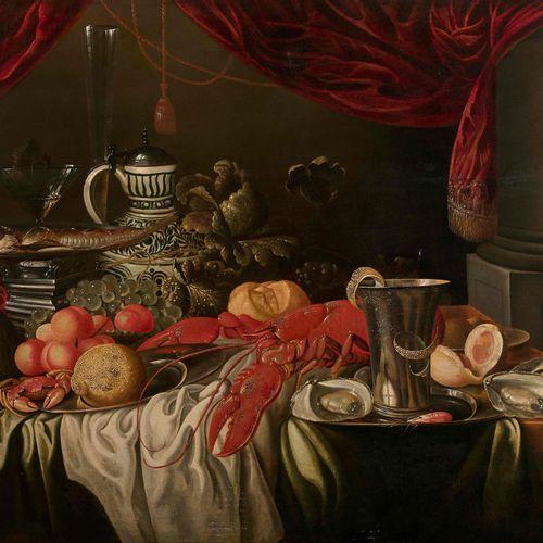 Ecole hollandaise du XVIIe, suiveur de Jan Davidsz de Heem. Nature morte au homa…