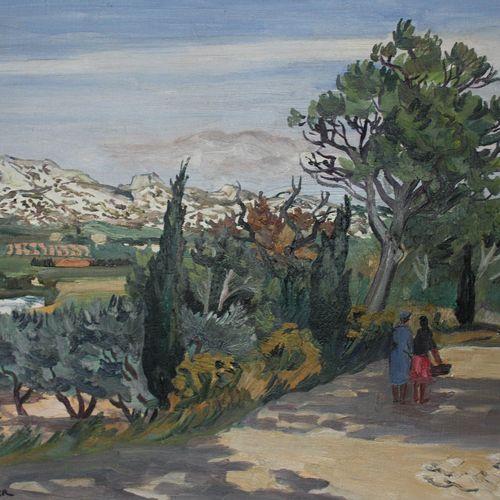 Yves BRAYER (1907 1990) Chemin aux Baux de Provence, 1973. Huile sur toile signé…