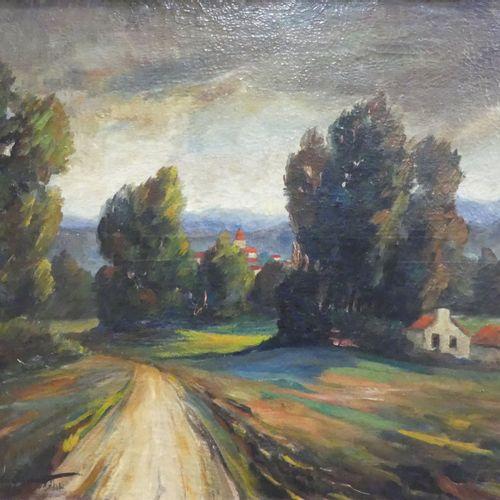 Alexandre IVANOFF (1896 1958). Chemin en campagne. Huile sur toile signée et dat…