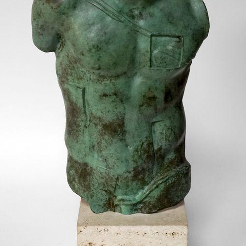 Igor MITORAJ (1944 2014) Perseus, 1988. Bronze à patine verte signée et numéroté…