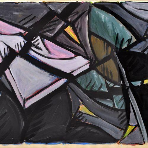 Jacques POLI (1938 2002) Ruptures, 1986. Acrylique sur papier signé et daté en b…