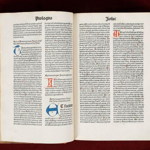 [INCUNABLE BÂLE]. Biblia LatinaBâle, Johann Amerbach, 1486  In folio (280 x 20…