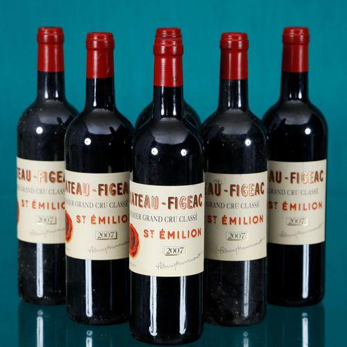 Château Figeac, 1er Grand Cru Classé, Saint Émilion 6 bouteilles2007Provenan…
