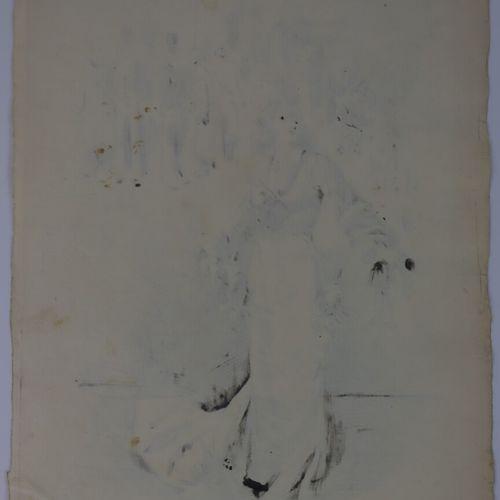 Henry SOMM (1844 1907).  La collectionneuse.  Encre sur papier.  Signée en bas à…