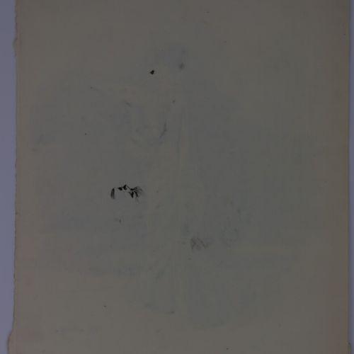 Henry SOMM (1844 1907).  Elégante à l'éventail.  Encre sur papier.  Signée en ba…
