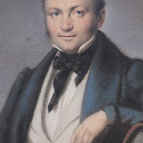 Jean Baptiste ISABEY (1767 1855).  Portrait d'homme.  Pastel sur papier, signé e…