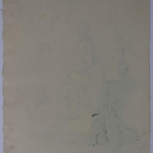 Henry SOMM (1844 1907).  Le nouveau venu.  Encre sur papier.  Signée en bas à dr…