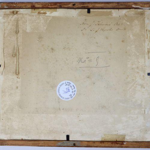 Ecole italienne du XVIIème siècle  Tête de jeune homme  Sanguine  12,9 x 12,5 cm…