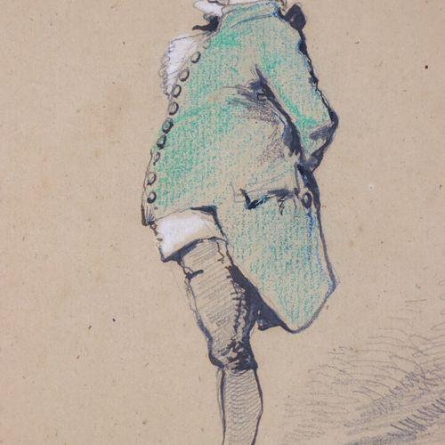 Edmond COPPIN, illustrateur notamment d'Alexandre Dumas.  Elégant à la redingote…