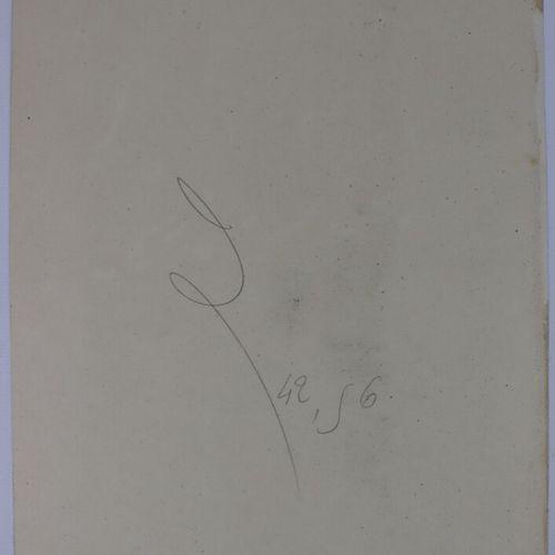 Camille FLERS (1802 1868)  Le puits.  Fusain et aquarelle.  Signé et daté 1860. …