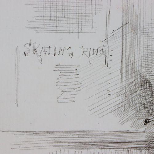 Henry SOMM (1844 1907).  Skating Ring.  Encre sur papier.  Signée en bas à droit…