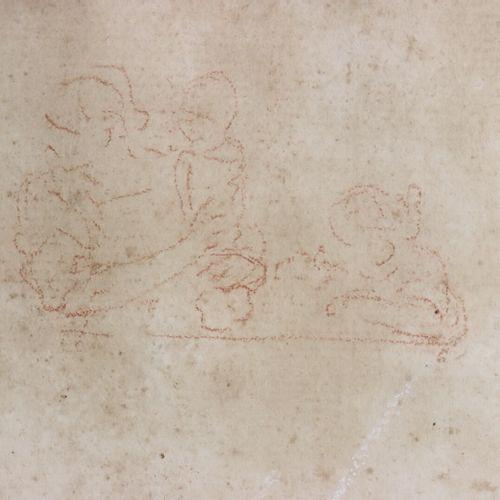 Ecole française du XVIIIème siècle.  Académie d'homme nu.  Dessin à la sanguine …