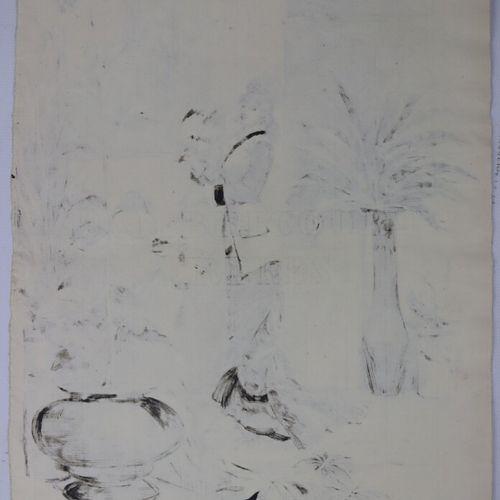 Henry SOMM (1844 1907).  Jeune femme à l'éventail et à la lanterne chinoise.  En…